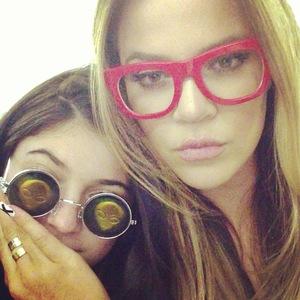 Khloe Kardashian and Kylie Jenner wearing glasses - 8 August 2013