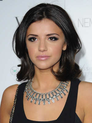 Lucy Mecklenburgh, 2013 Merabi Couture Spring/Summer fashion show- Arrivals/Catwalk, 4 April 2013