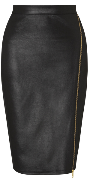 Lipsy leather look skirt