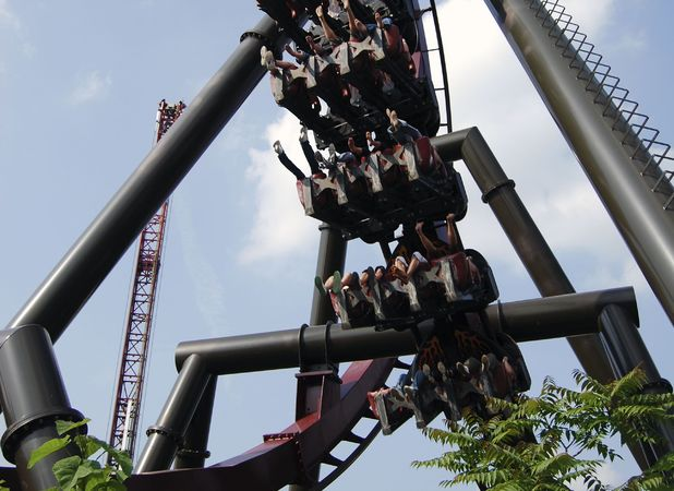 Nemesis at Alton Towers is one of Marcus's favourite rides