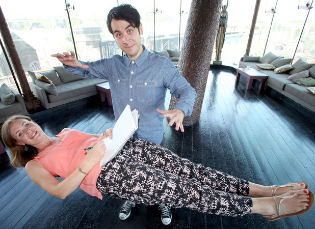 Reveal's Ros interviews Pete Firman while being levitated