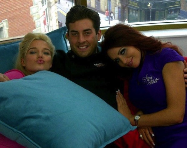 TOWIE's James 'Arg' Argent, Amy Childs and Helen Flanagan film Celebrity Super Spa - 6 August 2013