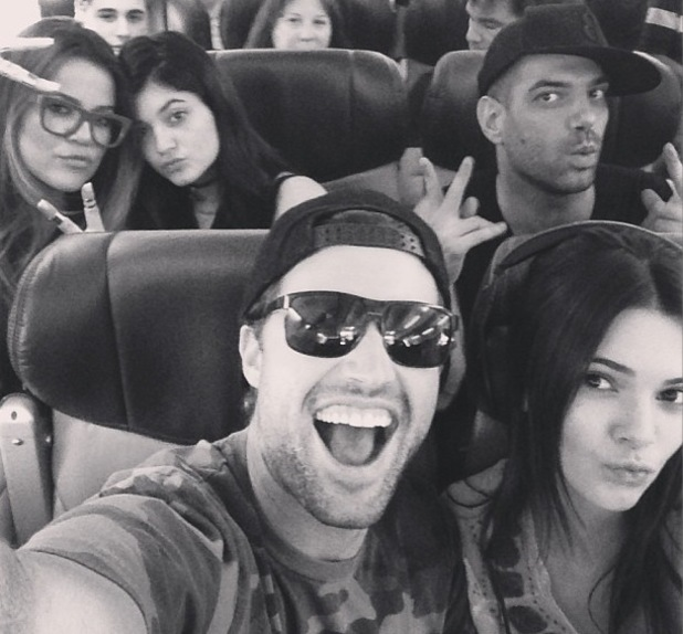 Brody Jenner uploads picture with Kendall, Kylie and Khloe Kardashian - 7 August 2013