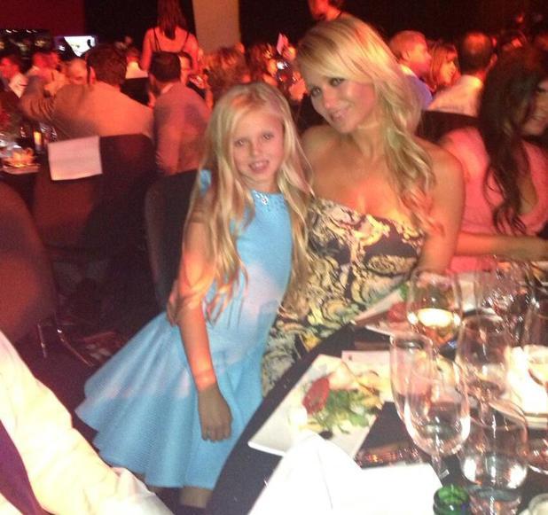 Alex Gerrard and daughter Lilly-Ella at Steven's Testimonial Gala Dinner - 3 August 2013