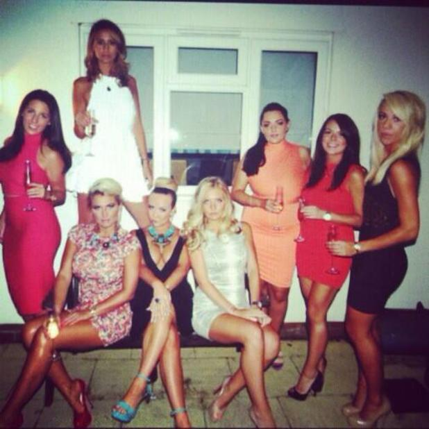 Ferne McCann celebrates her 23rd birthday with family and friends, Aug 10 2013