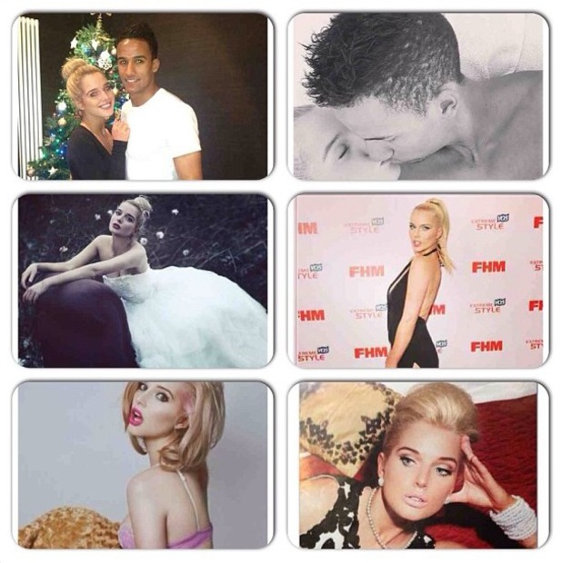 Helen Flanagan marks her 23rd birthday with a collage of pictures taken throughout the year - 7 August 2013