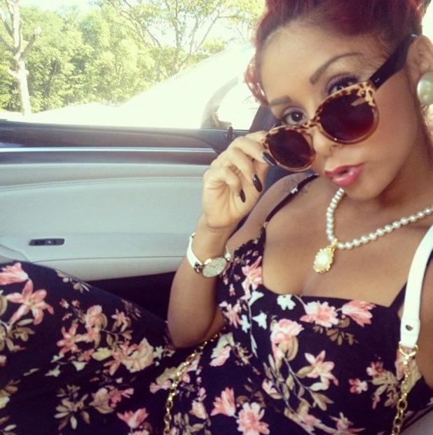Snooki - Nicole Polizzi - wears floral dress - 5 August 2013