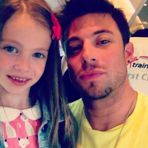 Duncan James and daughter Tianie-Finn film a TV show for ITV - 8 August 2013