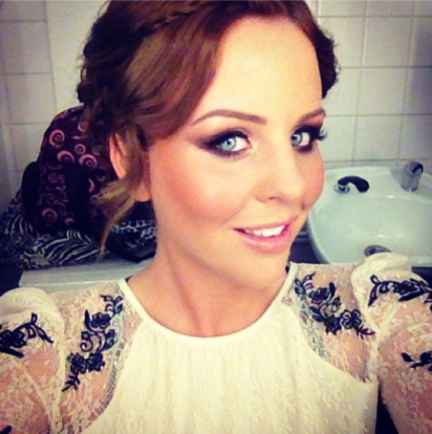 Lydia Bright's make-up selfie, Instagram, 6 August 2013