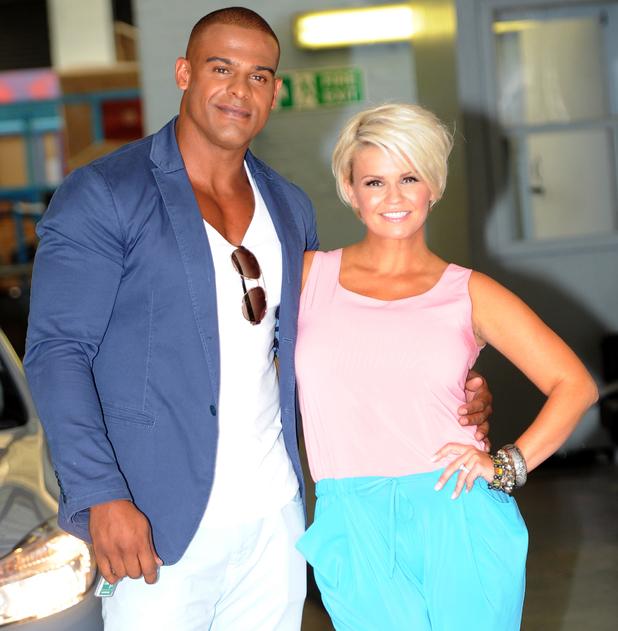 Kerry Katona and George Kay outside ITV studios - 18 July 2013