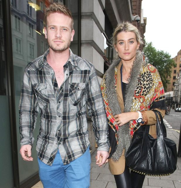 Matthew Wolfenden and Charley Webb of 'Emmerdale' out and about in Mayfair London, England - 23.06.12