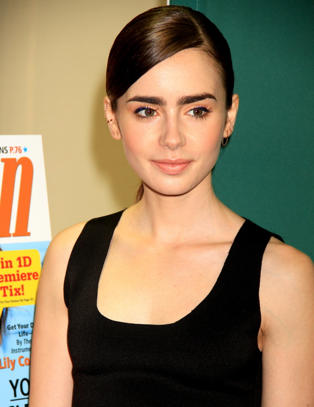 Lily Collins does a meet and greet to celebrate her cover on the latest issue of Seventeen Magazine.