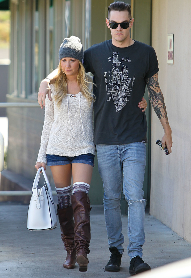 Ashley Tisdale and boyfriend Christopher French seen out and about in Studio City, 2013