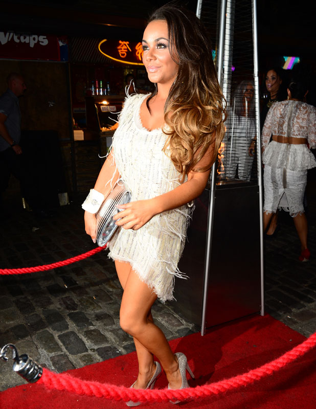 Chelsee Healey leaves her hotel, and heads to Gilgamesh restaurant with friends, to celebrate her 25th birthday. 6 August 2013