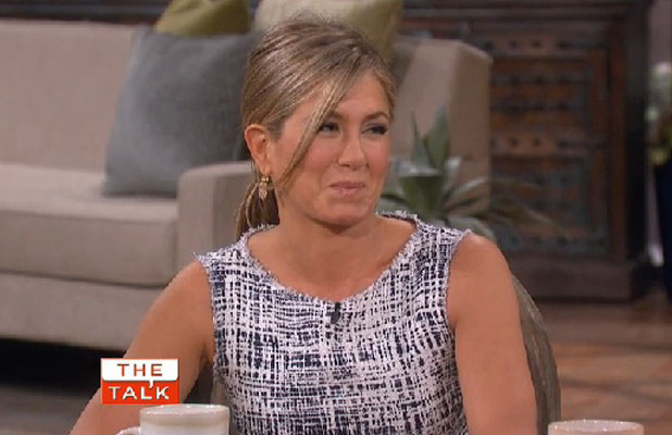 Jennifer Aniston appears on The Talk, 7 August 2013