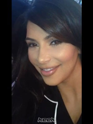 Kim Kardashian in a Keek video posted 6 August 2013