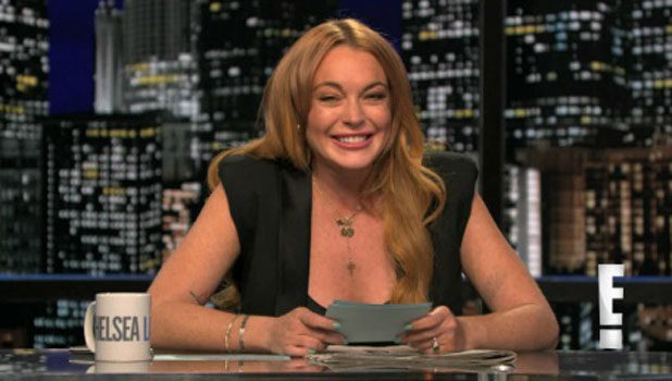 Lindsay Lohan guest hosts the Chelsea Lately show, 4 August 2013