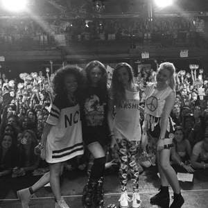 Little Mix after gig in NYC