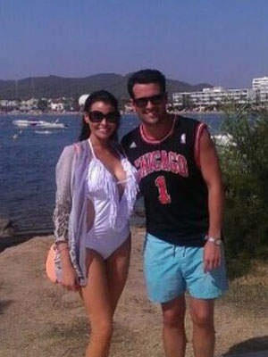 Ricky Rayment and Jessica Wright in Ibiza, August 2013
