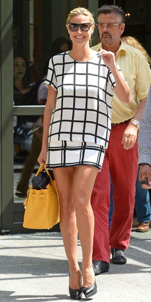 Heidi Klum in NYC promoting season 8 of America's Got Talent, 07/08/13