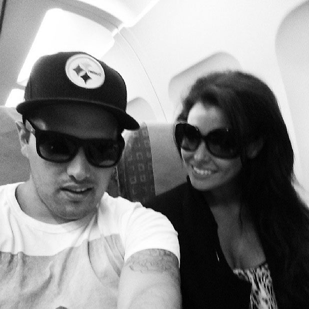 Jessica Wright and Ricky Rayment en route to Ibiza, 4 August 2013
