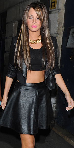 Tulisa Contostavlos seen arriving at DSTRKT nightclub to celebrate Chelsee Healey's 25th birthday. 6 August 2013