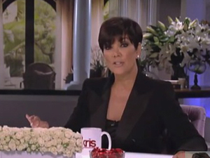 Kris Jenner speaking on her chat show Kris, about Kim Kardashian, Kanye West and Obama