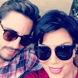 Kris Jenner and Scott Disick at Kylie Jenner's birthday party - 10 August 2013