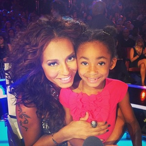 Mel B and daughter Angel on America's Got Talent - 13 August 2013