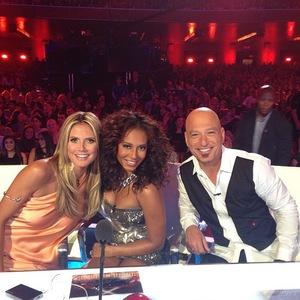 Mel B on America's Got Talent with Heidi Klum 13 August 2013