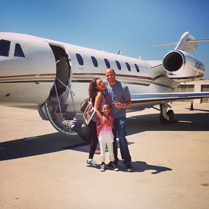 Mel B with husband Stephen Belafonte and daughter Angel - 13 August 2013