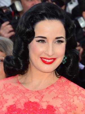 Dita Von Teese, 66th Cannes Film Festival - 'Behind the Candelabra' - Premiere, 21 May 2013