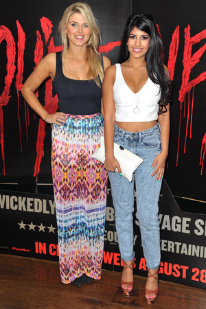 'You're Next' film screening, London, Britain - 13 Aug 2013 Jasmin Walia and Ashley james