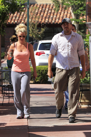 Britney Spears and her boyfriend David Lucado pictured going for coffee - 15 August 2013