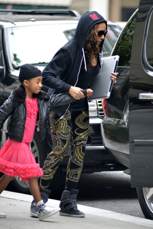 Mel B and daughter Angel seen leaving their Manhattan hotel - 13 August 2013