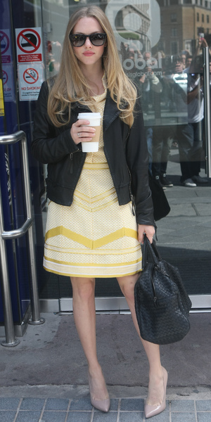 Amanda Seyfried leaving Capital FM studios in London, 13 August