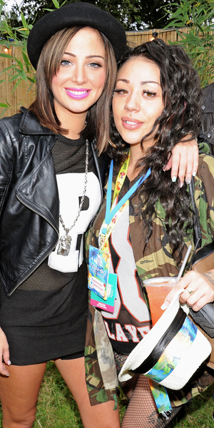 Tulisa Contostavlos and Mutya Buena backstage at V Festival 2013 - Day One, Chelmsford - 17/08/2013