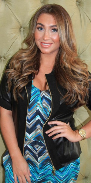 Lauren Goodger at Tatiana Hair Extensions salon