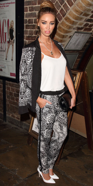 Lauren Pope arriving at the WAG Musical, London's Charing Cross Theatre - 13 August 2013