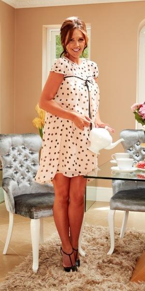 Danielle Lloyd wearing Denise dress, £75, Danielle Lloyd for Lipstick Boutique
