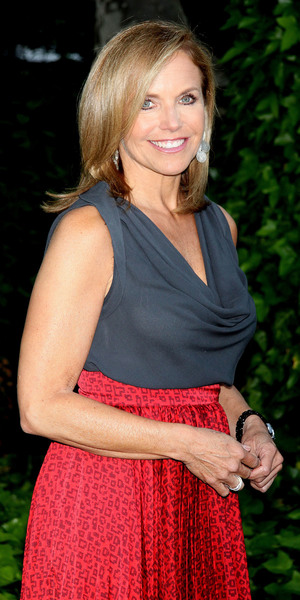 Katie Couric attends Bette Midler's New York Restoration Project 12th Annual Spring Picnic held at Gracie Mansion-Arrivals.