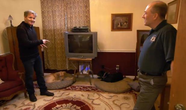 Gordon Ramsay on Hotel Hell on Channel 4
