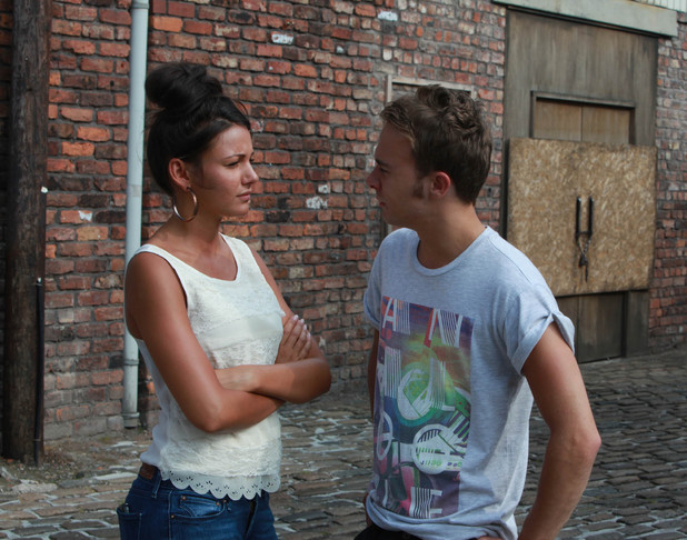 Corrie, Tina confronts David, Wed 21 Aug