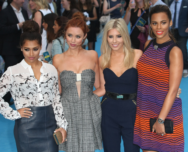 The Saturdays, Vanessa White, Una Healy, Mollie King, Rochelle Humes at We're The Millers film premiere