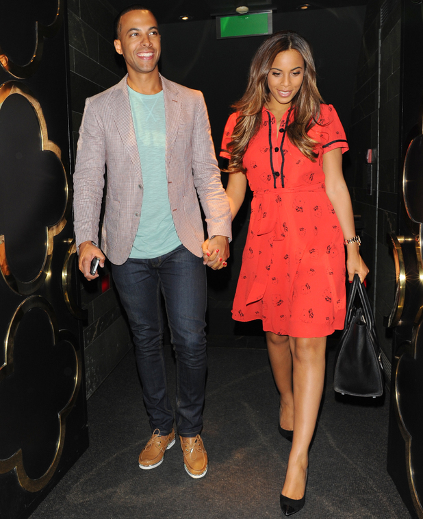 Rochelle and Marvin Humes and members of The Saturdays are spotted leaving Hakkasan restaurant - 15 august 2013