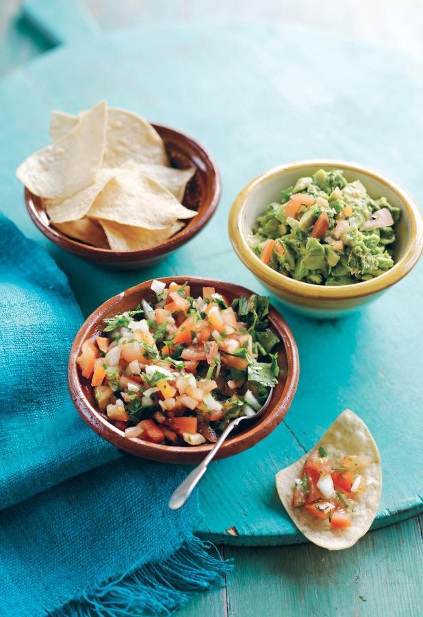 Guacamole tomato salsa real mexican food cookbook