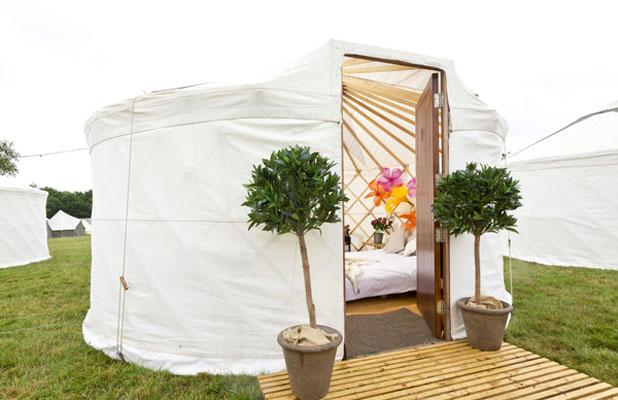 Virgin Media's V Festival yurt at Hylands Park, 2013