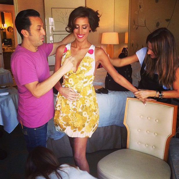 Danielle Jonas getting ready for the 2013 Teen Choice Awards at the Gibson Amphitheater, Universal City, 11 August 2013