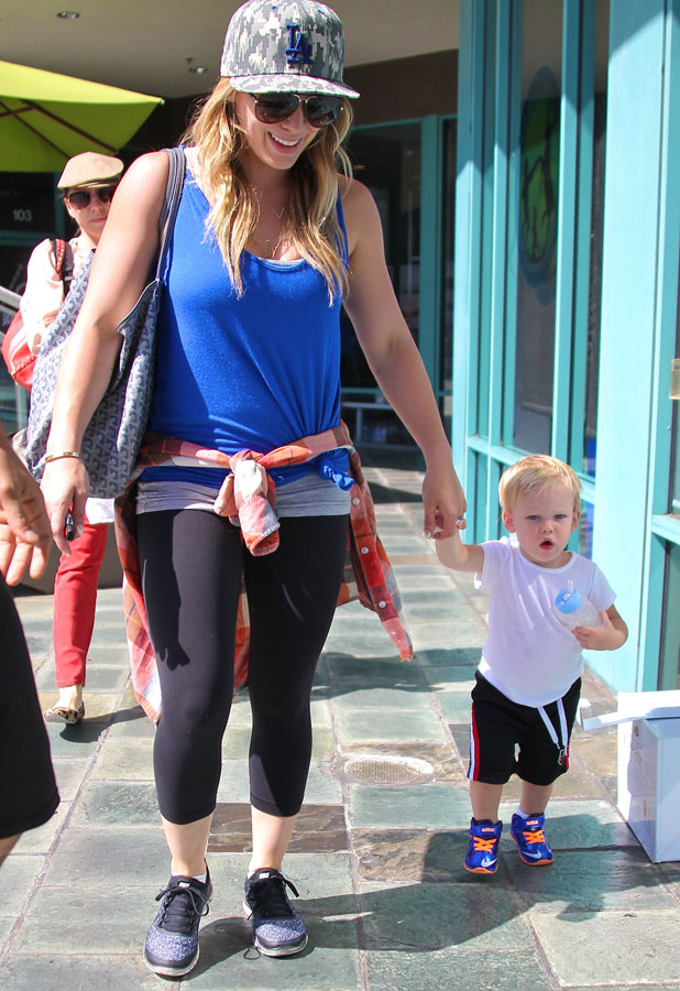 Hilary Duff takes her son Lucas to a play date in Los Angeles, 14 August 2013