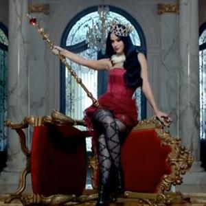 Katy Perry in her Killer Queen perfume advert, August 2013